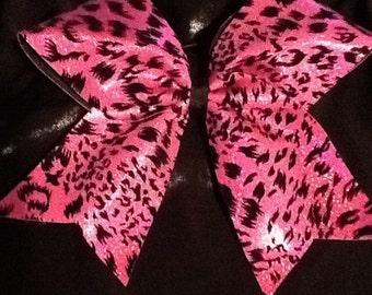 Pink Cheetah Print Bow