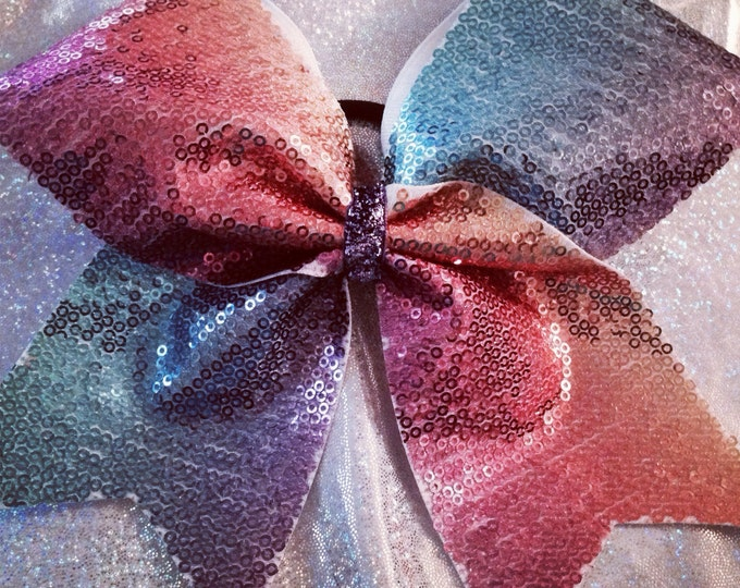 Multi-colored Sequins Bow