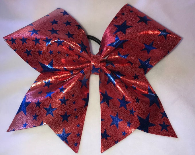 Red & Blue Stars Patriotic Bow
