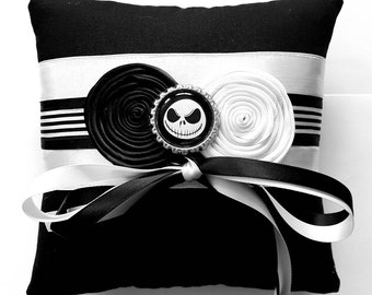 nightmare before christmasjack skellington wedding ring pillow 6x6 inch pillow - Nightmare Before Christmas Wedding Rings