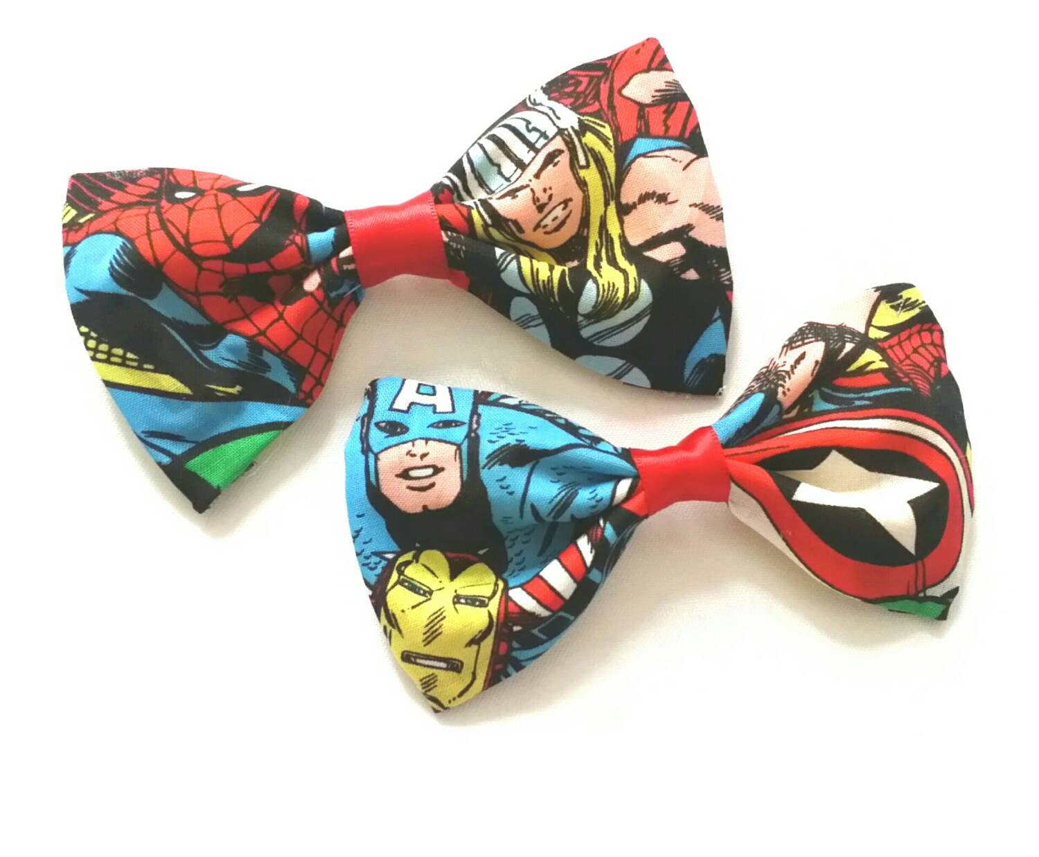 marvel avengers fabric hair bow | etsy
