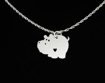Hippopotamus Necklace - Hippo Necklace - Hippo Jewelry - Hippo Gift - Hippopotamus Jewelry - Hippopotamus Gift