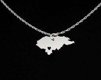 Honduras Necklace - Honduras Jewelry - Honduras Gift - Sterling Silver