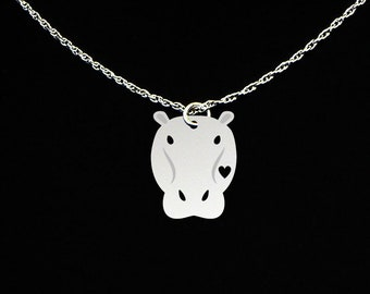 Hippo Necklace - Hippo Jewelry - Hippo Gift - Hippopotamus Jewelry - Hippopotamus Gift