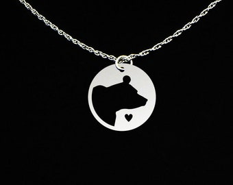 Bear Necklace - Bear Jewelry - Bear Gift