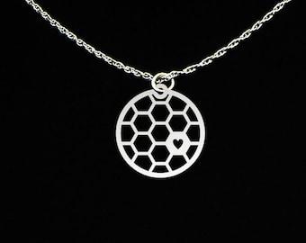 Honeycomb Necklace - Honeycomb Gift - Honeycomb Jewelry