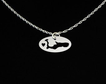 Grand Cayman Necklace - Cayman Islands Jewelry - Cayman Islands Gift
