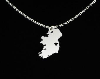 Ireland Necklace - Ireland Jewelry - Ireland Gift - Sterling Silver
