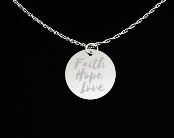 Faith Hope Love Necklace - Faith Hope Love Jewelry - Faith Hope Love Gift