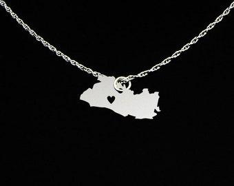 El Salvador Necklace - El Salvador Gift - El Salvador Jewelry