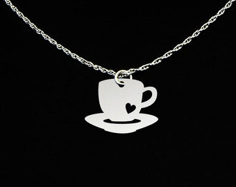 Coffee Necklace - Coffee Cup Necklace - Coffee Jewelry - Coffee Gift - Coffee Cup Jewelry - Coffee Cup Gift