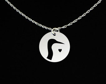 Crane Necklace - Crane Jewelry - Crane Gift