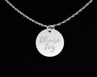 Choose Joy Necklace - Choose Joy Jewelry - Choose Joy Gift