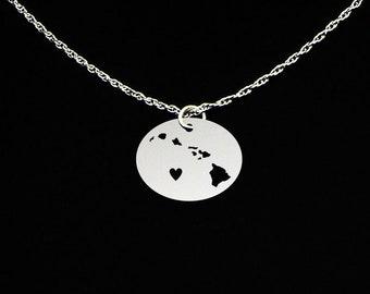 Hawaiian Islands Necklace - Hawaii Gift - Hawaii Jewelry - Hawaii Necklace