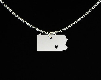 Pennsylvania Necklace - Pennsylvania Jewelry - Pennsylvania Gift