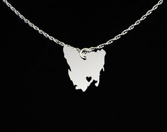 Tasmania Necklace - Tasmania Jewelry - Tasmania Gift