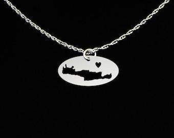 Crete Necklace - Crete Jewelry - Crete Gift