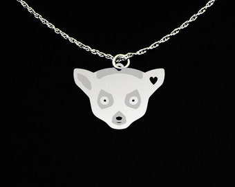 Lemur Necklace - Lemur Jewelry - Lemur Gift