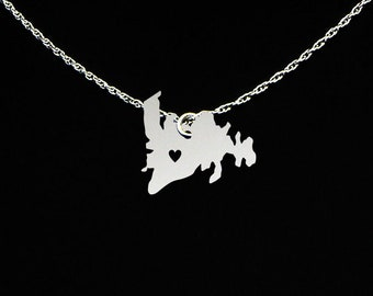 Newfoundland Necklace - Newfoundland Jewelry - Newfoundland Gift - Sterling Silver