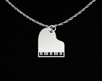 Piano Necklace - Piano Jewelry - Piano Gift - Piano Teacher Gift - Piano Teacher Necklace