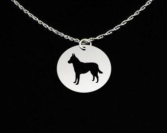 Belgian Shepherd Malinois Necklace - Belgian Shepherd Jewelry - Belgian Shepherd Gift