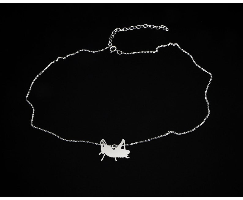 Grasshopper Gift Grasshopper Necklace Sterling Silver Grasshopper Jewelry