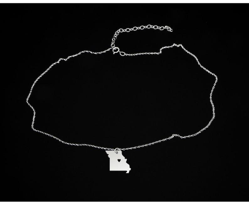 Missouri Necklace Missouri Gift Sterling Silver Missouri Jewelry