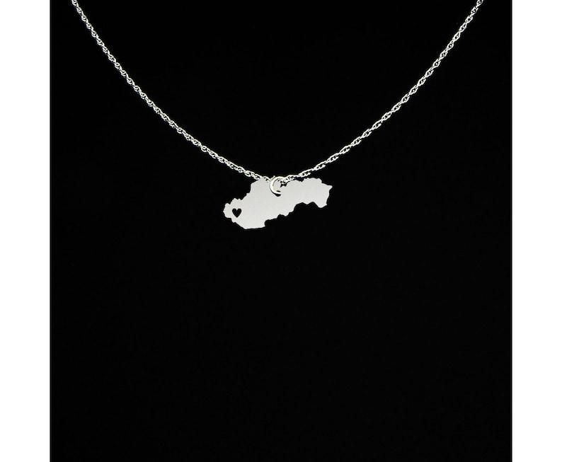 Slovakia Jewelry Sterling Silver Slovakia Gift Slovakia Necklace