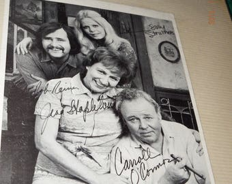 Signed All In The Family Cast Carroll O'connor Jean Stapleton + Others