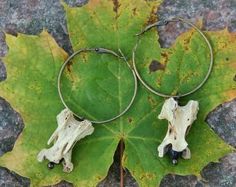 Bone earrings, forest punk, shaman punk, occult, bone jewellery