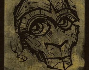 Old 327 Ponders (Handcut print, number 02 of 25)