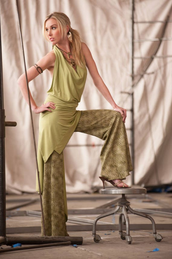 Women's Halter Dress, by Rebecca Bruce, Style D-139 Lime