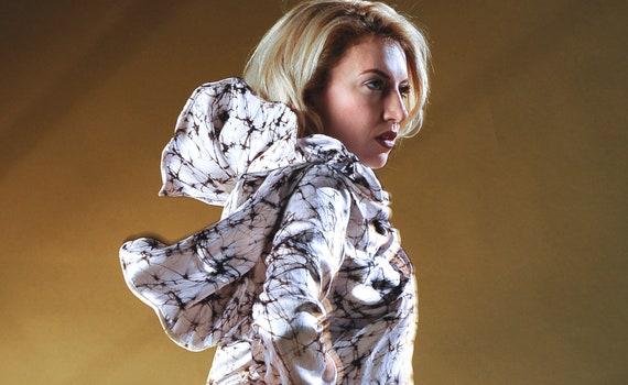 Women's Big Wrap Marbled Silk featherweight Jacket