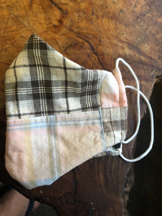Cotton plaid mask