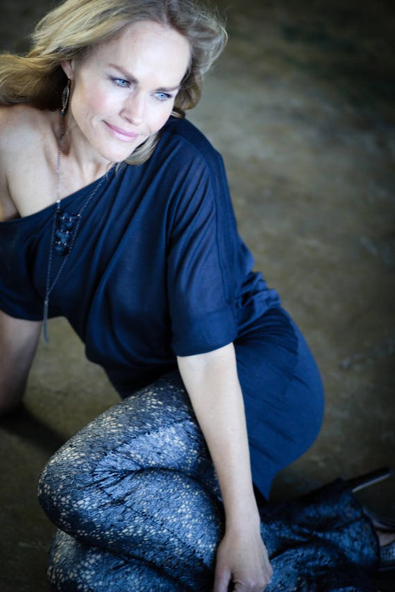Women's Off-shoulder Asymmetrical top by Rebecca Bruce style B-361