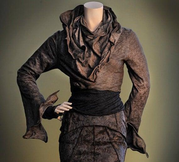 Women's Jacket Short Bolero, Sculpting Wired Wrap in Cashmere or Jersey, Design Yourself Versatile Looks