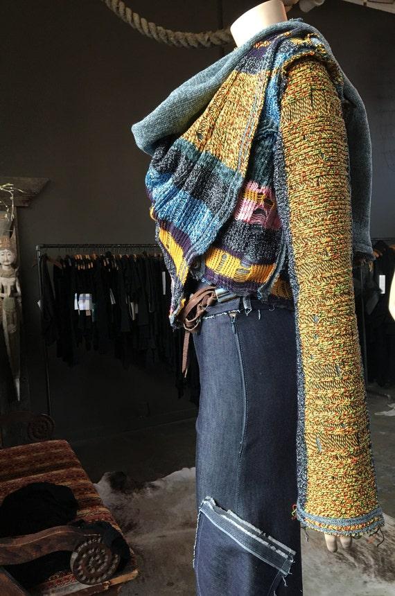 Knitted Sweater Bolero Wrap Belgian Wool