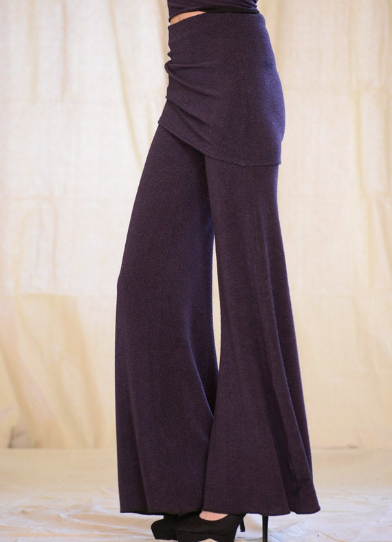 Women's wide leg pant with skirt by Rebecca Bruce, P-640