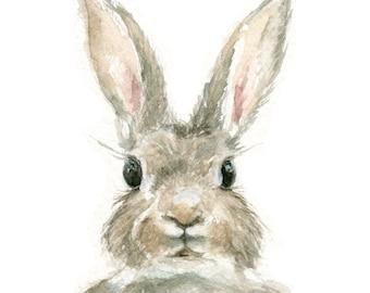 Watercolor Rabbit, Rabbit Print, Bunny Print, Animal Print, Rabbit, Jackrabbit