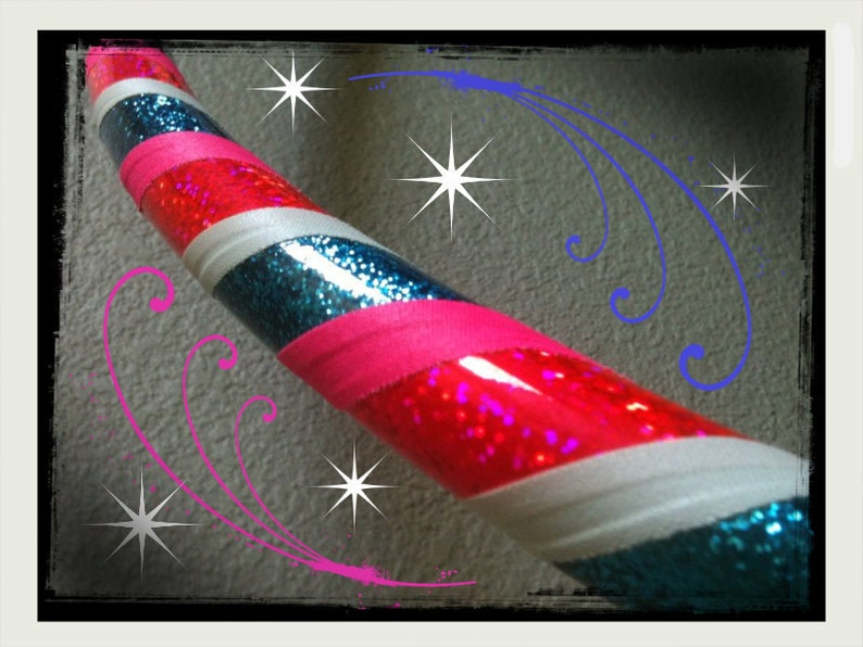 Eye Candy Dance /& Exercise Hula Hoop COLLAPSIBLE or Push Button neon pink blue glitter white