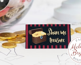 Custom Pirate Themed Table Tents /Treasure Hunter Birthday Party Place Cards for Baby Shower Decor or Summer Pool Party Summer Event