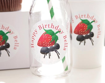 Personalized Picnic Themed 2.5 inch Stickers Birthday Decor Cute as a Bug Ant Printed Custom Labels First Birthday Baby Shower Decorations