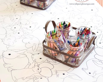 Coloring Tablecloth Etsy