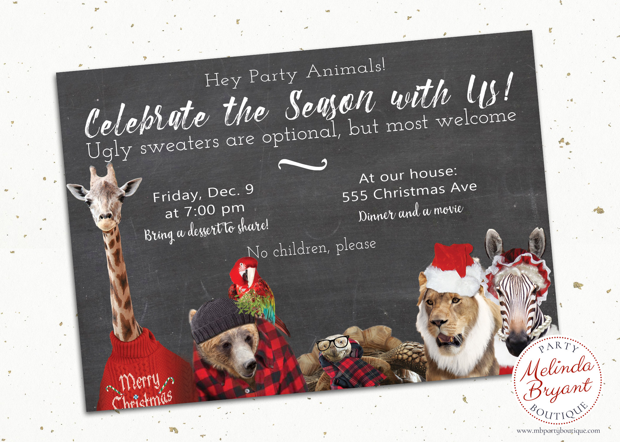 Christmas Invitations / Ugly Sweater Party / Printable Invites | Etsy