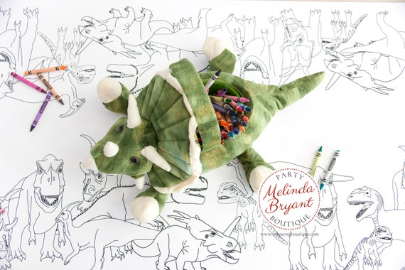 Dinosaur Birthday Decorations Coloring Page Table Runner Jurassic World Party Decor T Rex Tablecloth Boys Girls Dino Park Theme