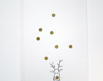 LETTERPRESS Christmas Card - RUDOLF