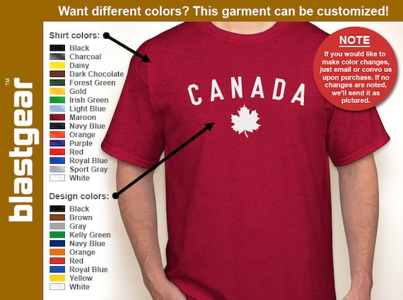 CANADA Canadian maple leaf made//born in hockey//country red jersey//T-shirt S-5XL