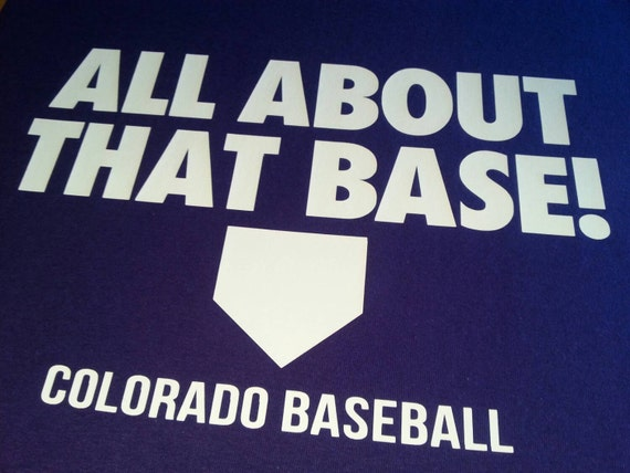 ALL ABOUT THAT BASE any team//any color custom baseball bass jersey//T-shirt S-5XL