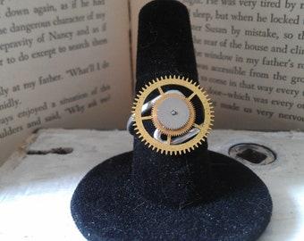 Pocket Watch Gear Ring, Steampunk