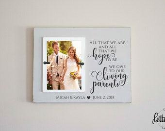 Wedding Frames For Parents Etsy